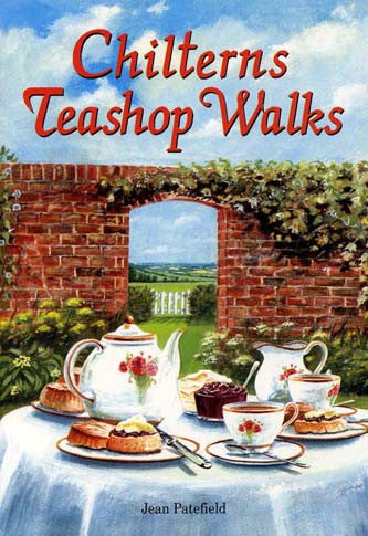 Chilterns Teashop Walks book cover. Walking guide.