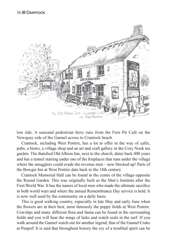 The Cornwall Village Book Old Albion Inn Crantock