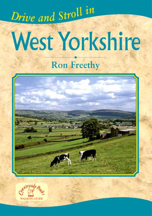 Drive and Stroll in West Yorkshire book cover. Short countryside walks.
