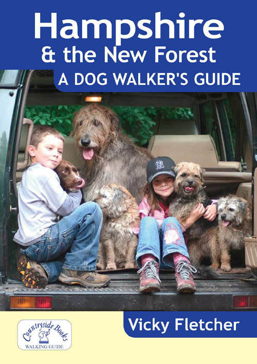 Hampshire & the New Forest A Dog Walker's Guide book cover. Local Dog Walks.