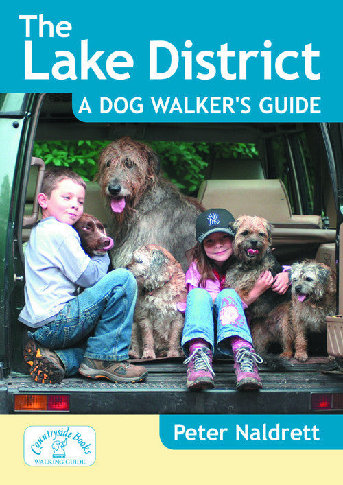 The Lake District A Dog Walker's Guide book cover. 20 circular walks in the Lake District countryside designed for dog walking. Each dog walk has maximum off lead time and includes dog-friendly pubs and cafes.