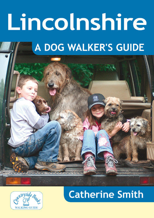 Lincolnshire A Dog Walker's Guide book cover. Local Dog Walks.