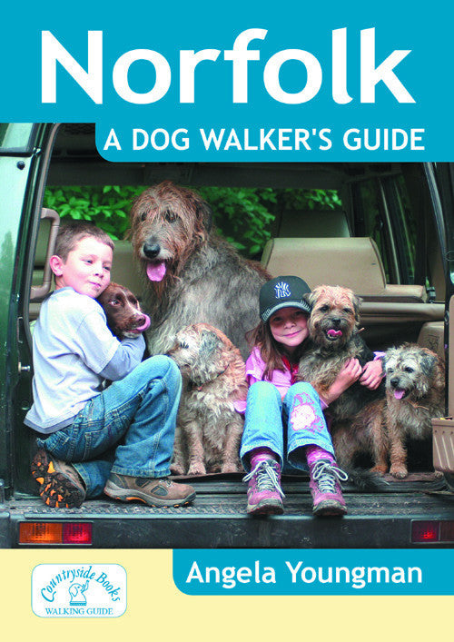 Norfolk A Dog Walkers Guide book cover. Local Dog Walks.