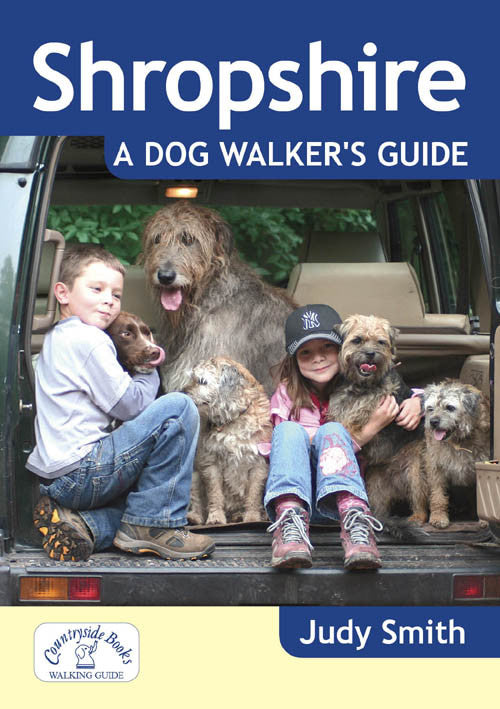 Shropshire A Dog Walker's Guide book cover. Best dog walks in Shropshire.