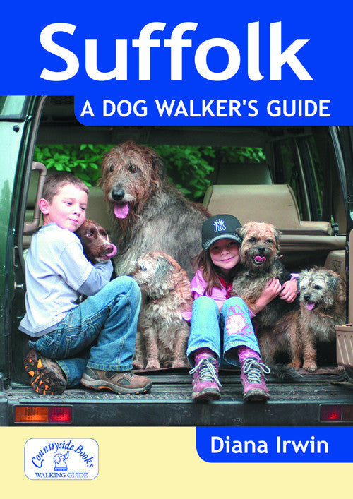 Suffolk A Dog Walker's Guide book cover. Best local dog walks.