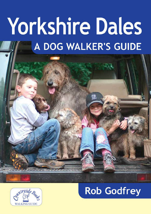 Yorkshire Dales A Dog Walker's Guide book cover. Best dog walks.