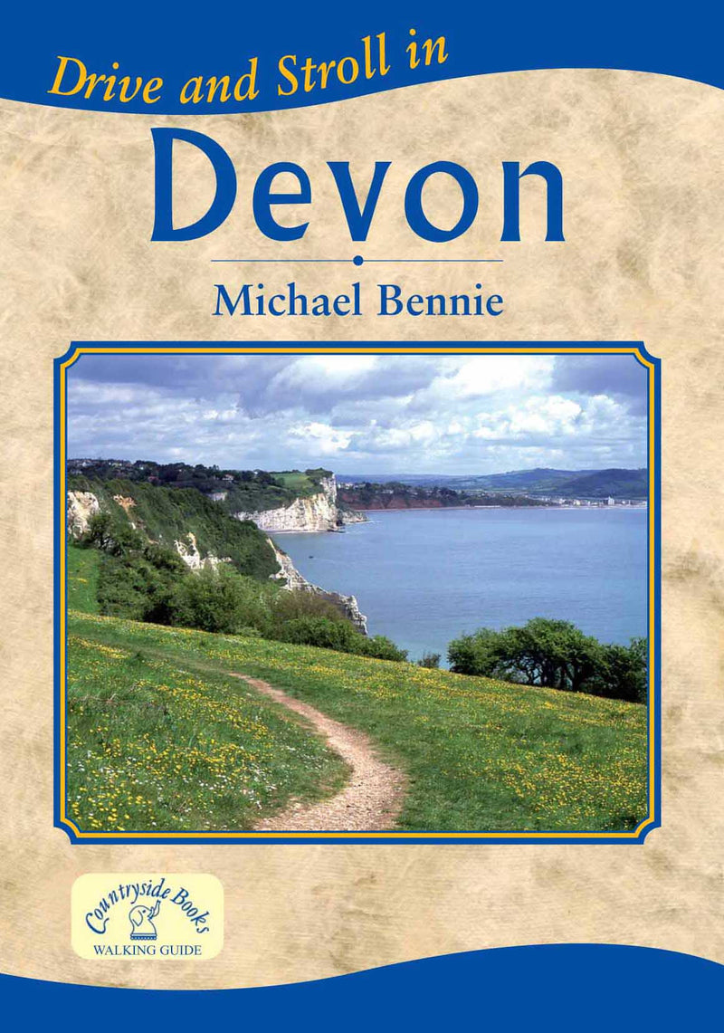 Drive and Stroll in Devon book cover. Short countryside walks.