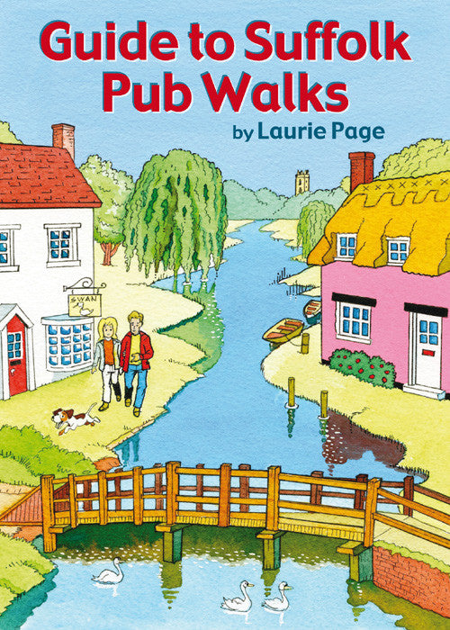 Guide to Suffolk Pub Walks book cover. Countryside walks.