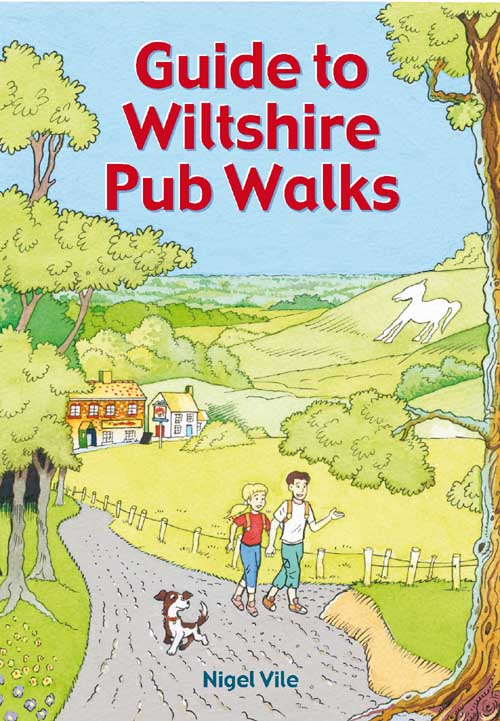 Guide to Wilshire Pub Walks book cover. Countryside walks.