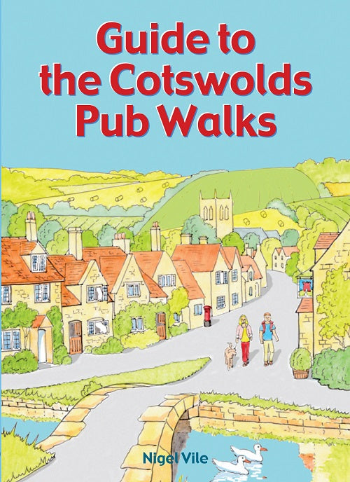 Guide to the Cotswolds Pub Walks book cover. Pocket walking guide series.