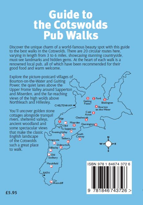 Guide to the Cotswolds Pub Walks area map
