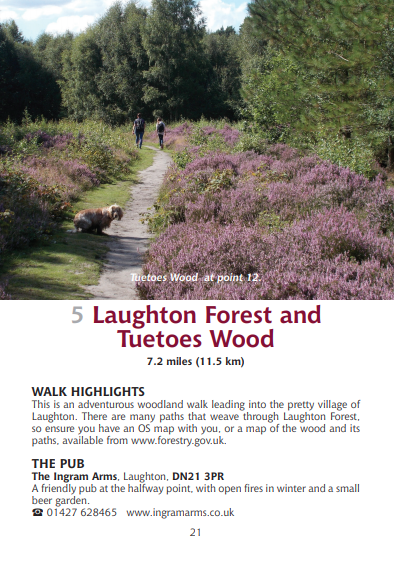 Guide to Lincolnshire Pub Walks Laughton Forest and Tuetoes Wood
