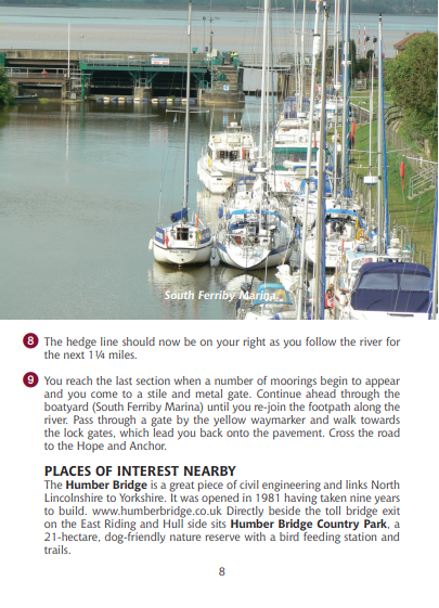 Guide to Lincolnshire Pub Walks South Ferriby Marina