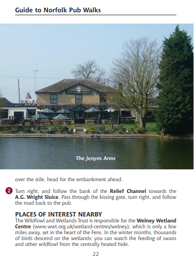 Guide to Norfolk Pub Walks Jenyns Arms Inn