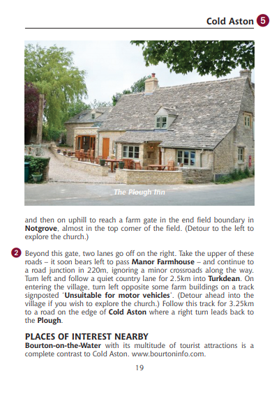 Guide to the Cotswolds Pub Walks The Plough Inn Cold Aston