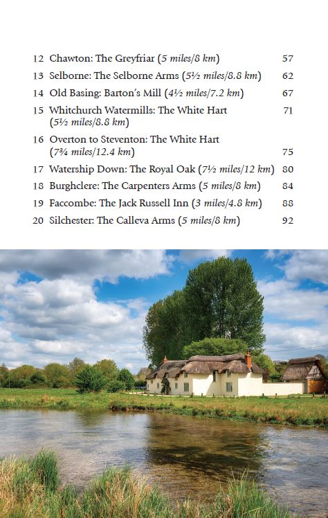 Hampshire & the New Forest Pub Walks book contents page 2