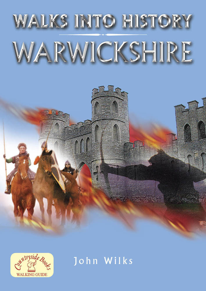Walks into History Warwickshire book cover. Historical walks.