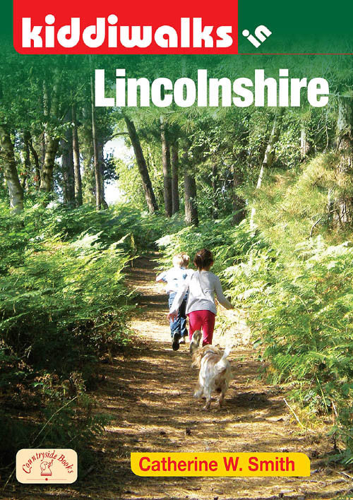 Kiddiwalks in Lincolnshire book cover. 20 family walks.