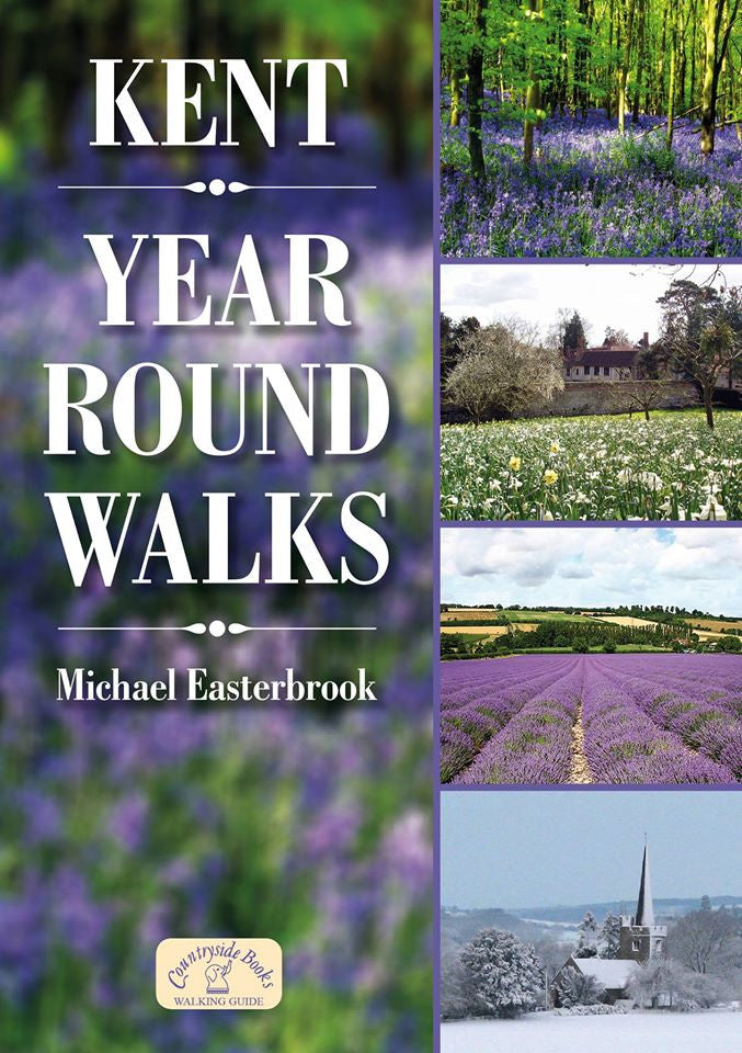 Kent Year Round Walks book cover. Countryside walks.