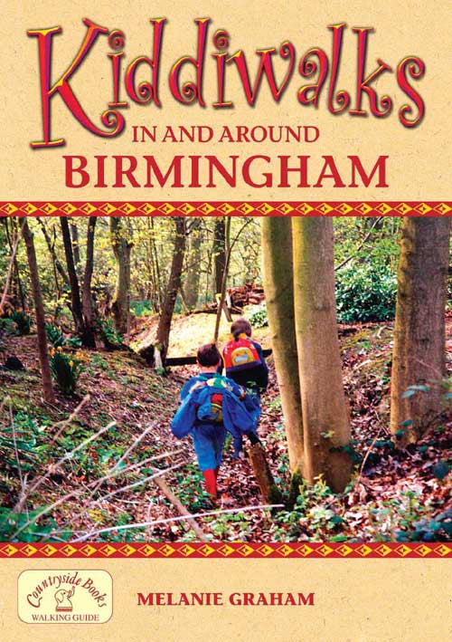 Kiddiwalks in and around Birmingham book cover. 20 family walks.