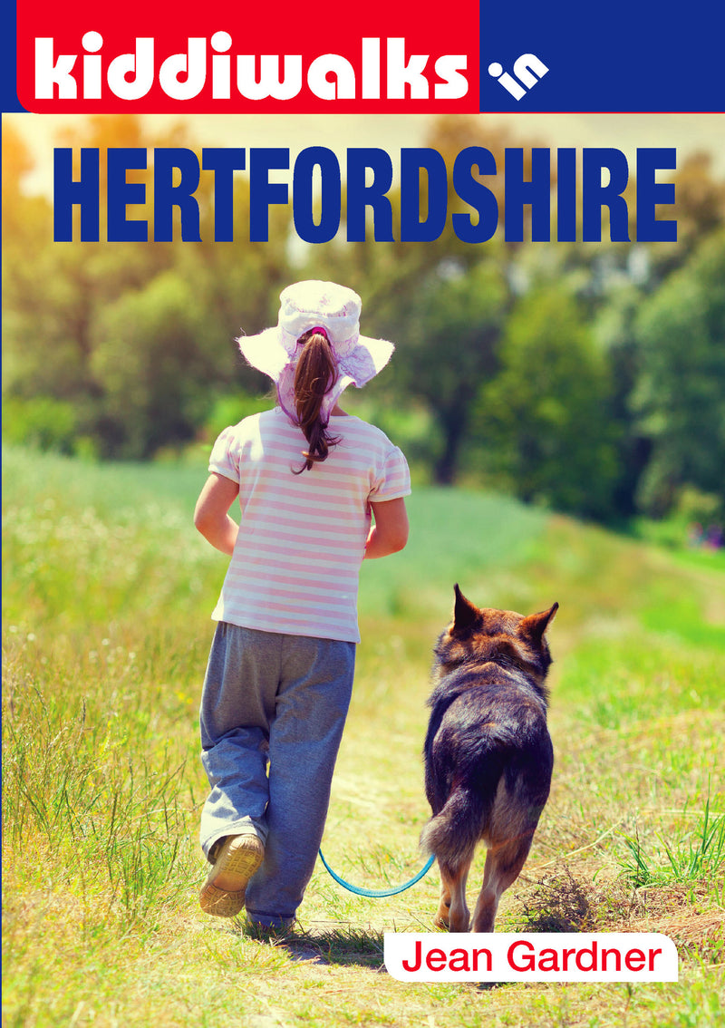 Kiddiwalks in Hertfordshire book cover. 20 family walks.