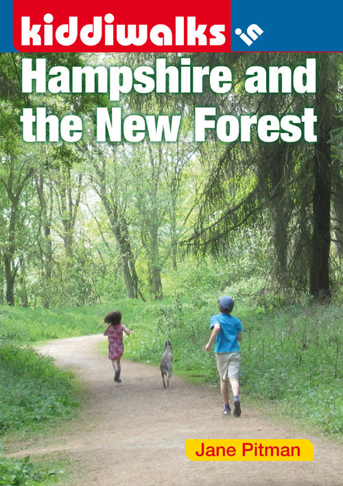 Kiddiwalks in Hampshire and the New Forest book cover. 20 family walks.