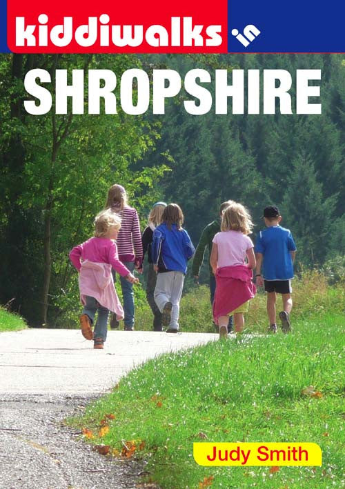 Kiddiwalks in Shropshire book cover. 20 family walks.