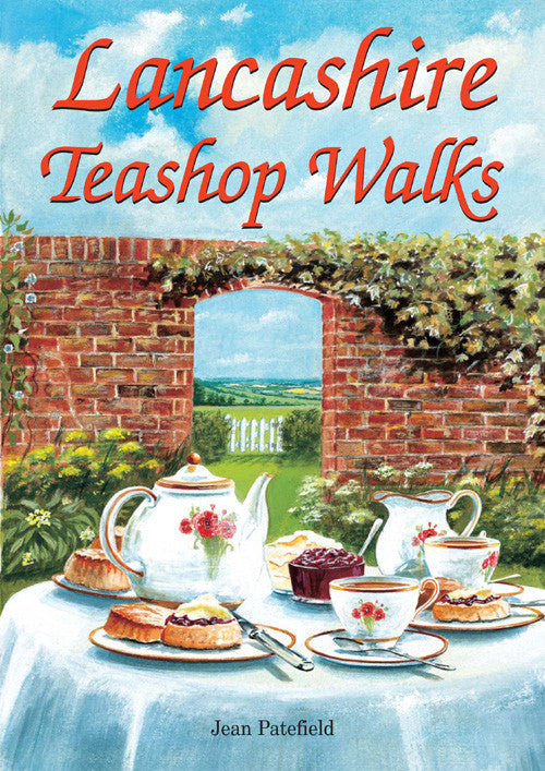 Lancashire Teashop Walks book cover. Countryside walks.
