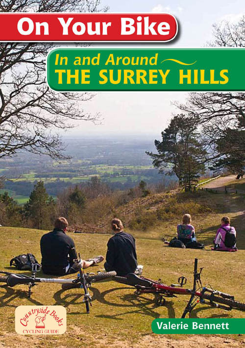On Your Bike The Surrey Hills book cover. Bike ride routes.