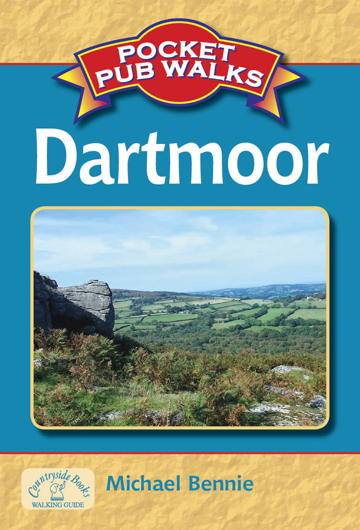Pocket Pub Walks in Dartmoor book cover. Guide to best walks in the Dartmoor countryside.
