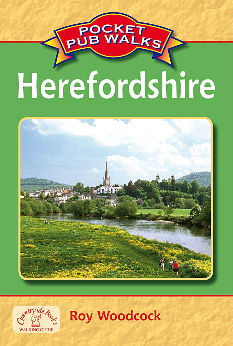 Pocket Pub Walks in Herefordshire book cover. Walking guide to best walks in the Herefordshire countryside.