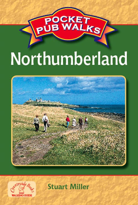 Pocket Pub Walks in Northumberland book cover. Walking guide to the best walks in the Northumberland countryside.
