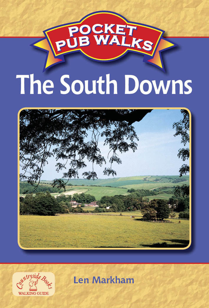 Pocket Pub Walks in the South Downs book cover. Walking guide to the best walks in the South Downs countryside.