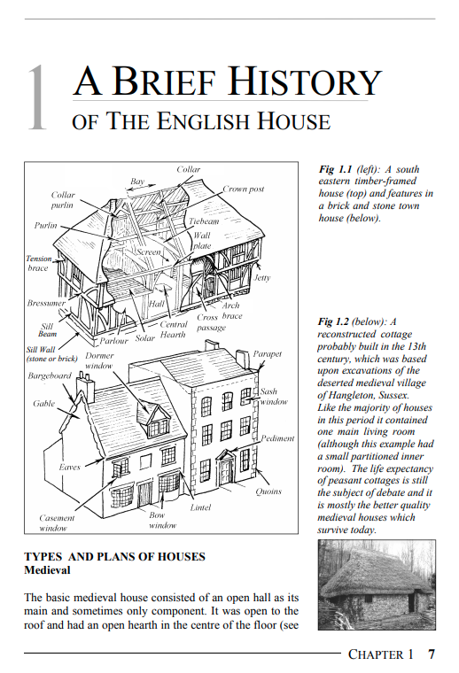 Period House Fixtures & Fittings A Brief History of the English House