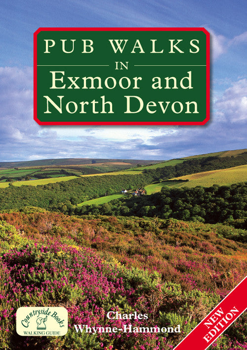 Pub Walks in Exmoor and North Devon book cover. Walking guide to the best walks in the Exmoor and Devon countryside.