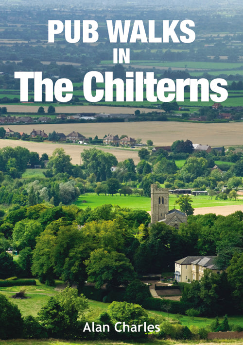 Pub Walks in the Chilterns book cover. Walking guide to the best walks in the Buckinghamshire, Bedfordshire and Oxfordshire countryside.