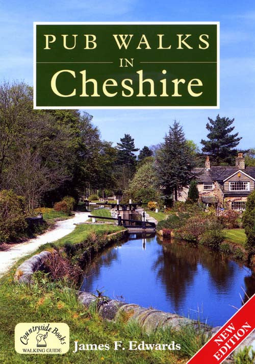 Pub Walks in Cheshire book cover. Walking guide to the best walks in the Cheshire countryside.