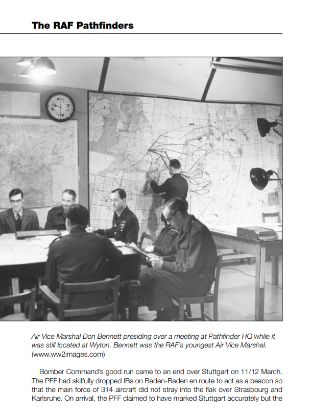 RAF Pathfinders Bomber Command Meeting at Pathfinder HQ