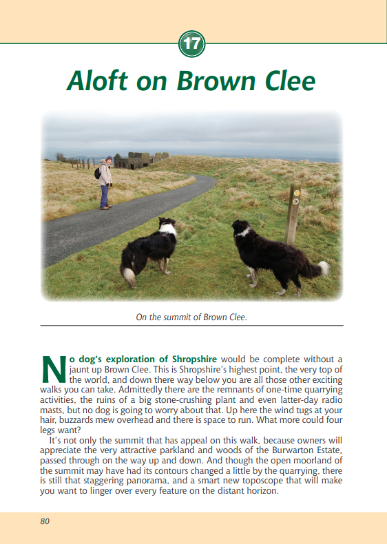 Shropshire A Dog Walker's Guide Brown Clee local walk