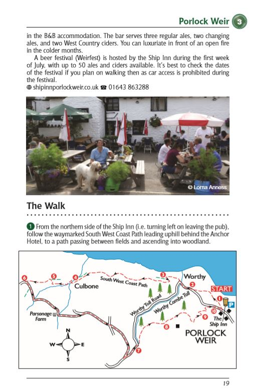 Somerset Dog Friendly Pub Walks Porlock Weir walk and map