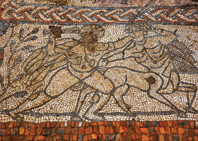 The Boxford Mosaic - A Unique Survivor from the Roman Age Hercules panel
