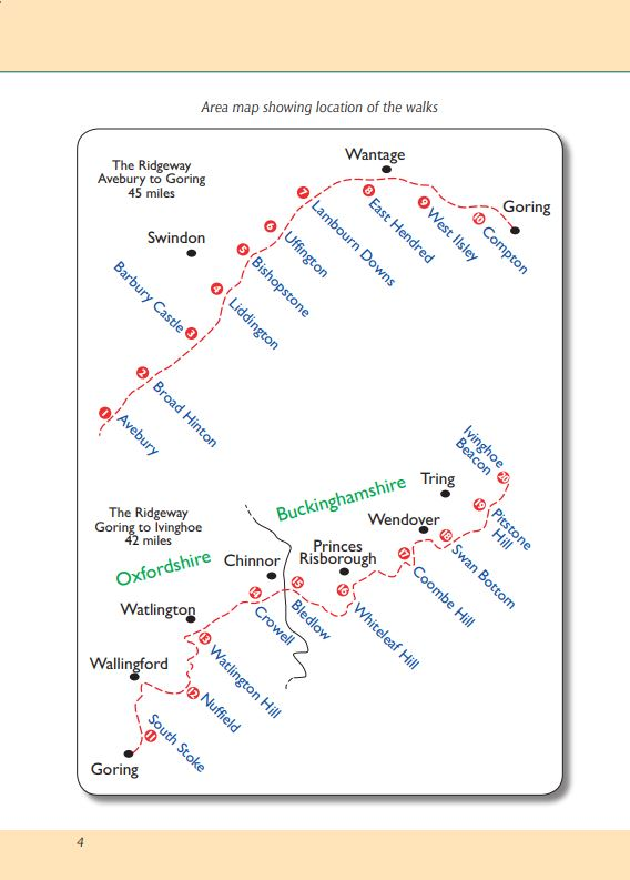 The Ridgeway A Dog Walker's Guide area map. Best local dog walks.