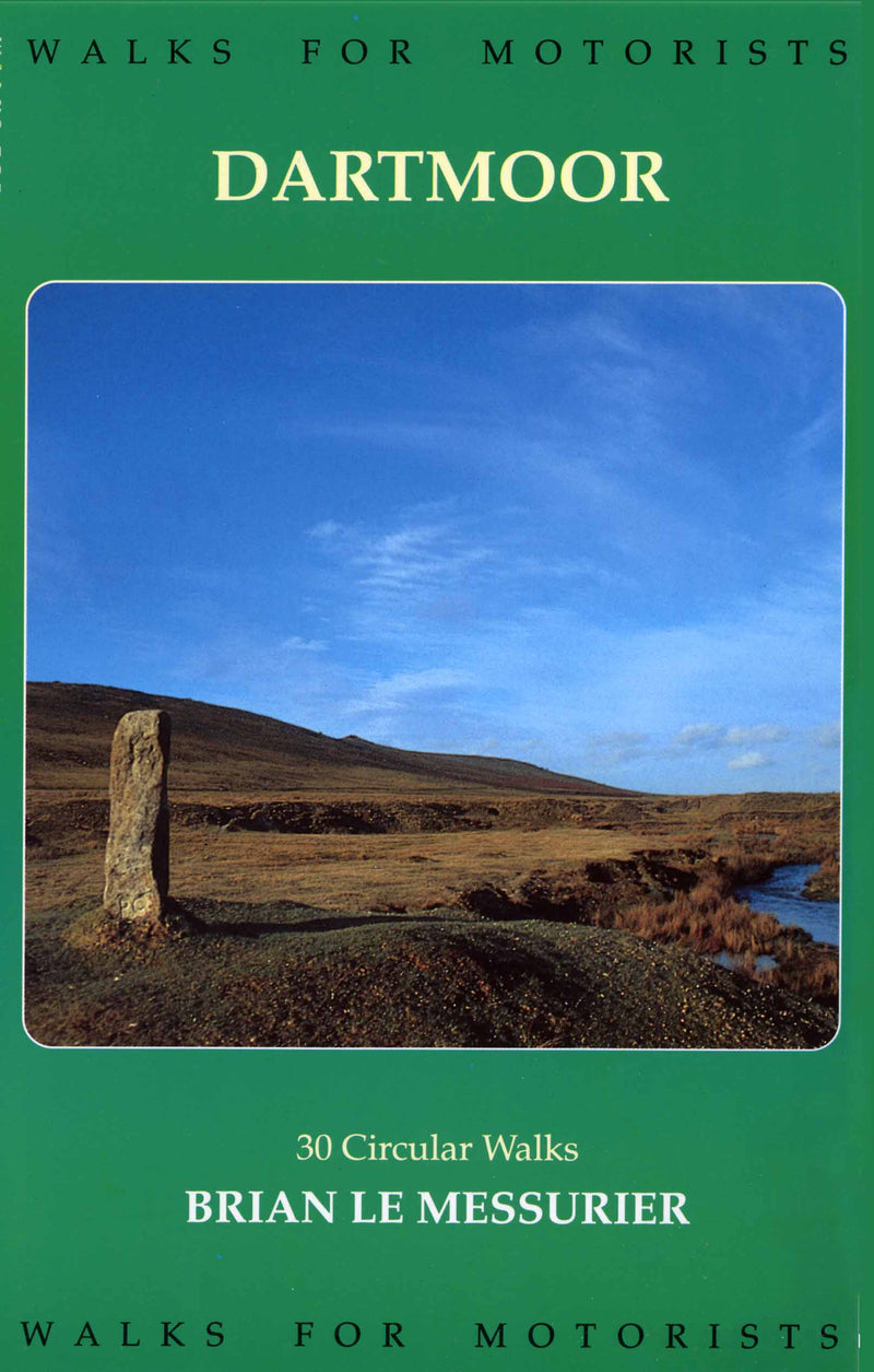 Walks for Motorists Dartmoor book cover. Countryside walks.