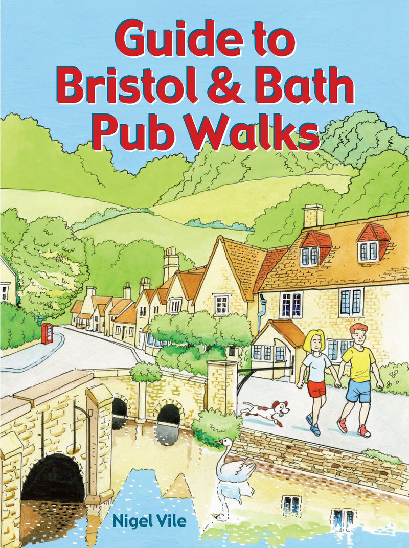 Guide to Bristol & Bath Pub Walks book cover. Countryside walks.