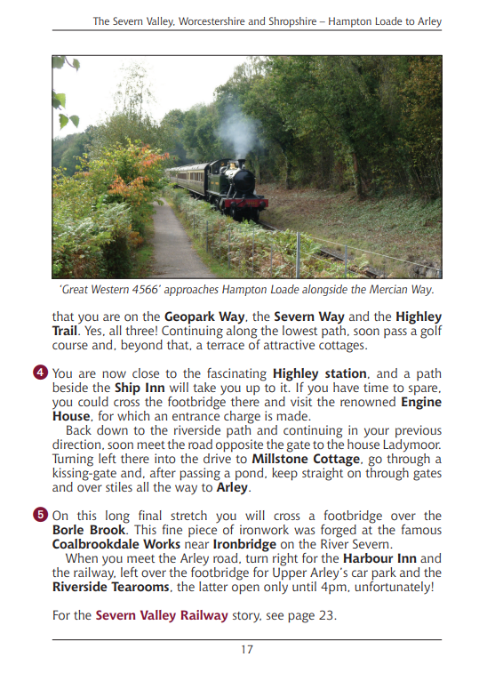 Walks Following Steam Railways in the Southern Counties of England. Heritage Railway Steam Trains walking routes Great Western 4566