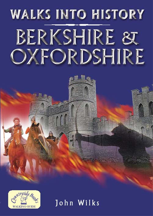 Walks into History Berkshire & Oxfordshire book cover. Countryside walks.