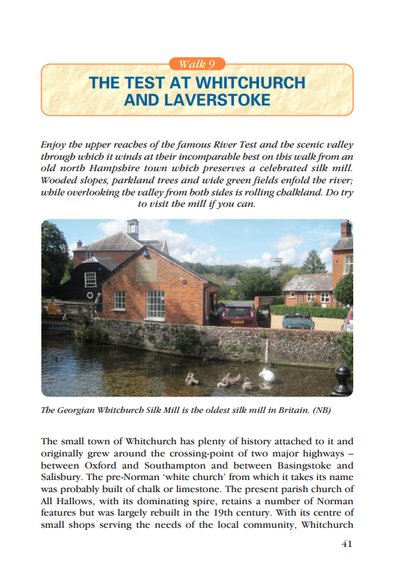 Waterside Walks in Hampshire The Test at Whitchurch & Laverstoke walk