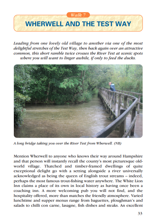 Waterside Walks in Hampshire Wherwell & the Test Way walk