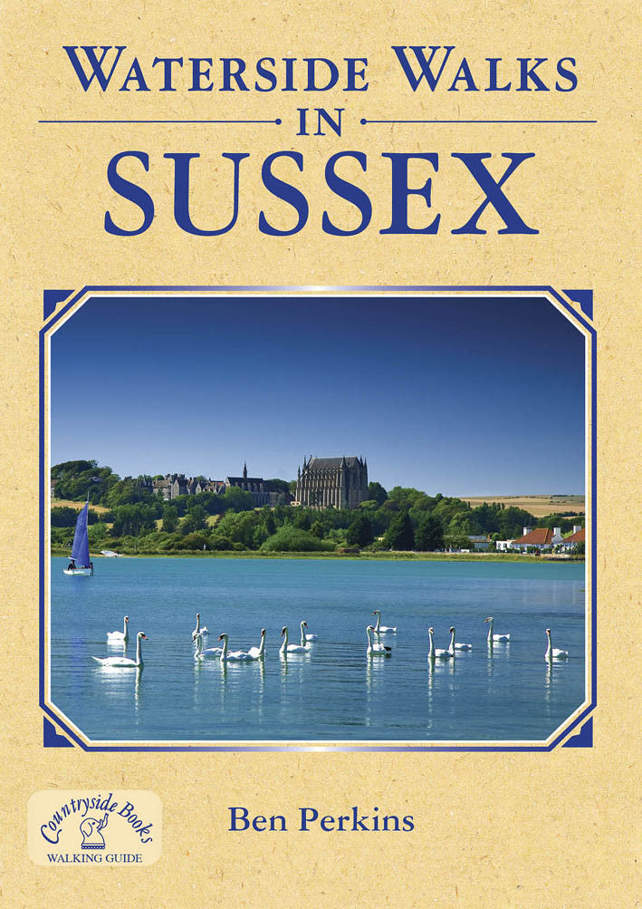 Waterside Walks in Sussex book cover.  20 river and canal walks.