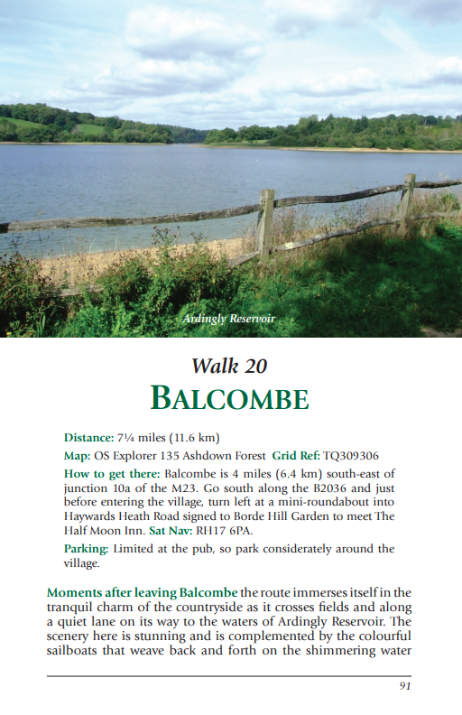 West Sussex Pub Walks Balcombe Ardingly Reservoir walk